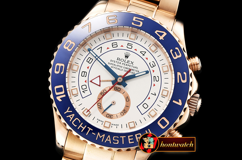 Rolex YachtMaster II Blue RG/RG White BP Asia 2813 Mod