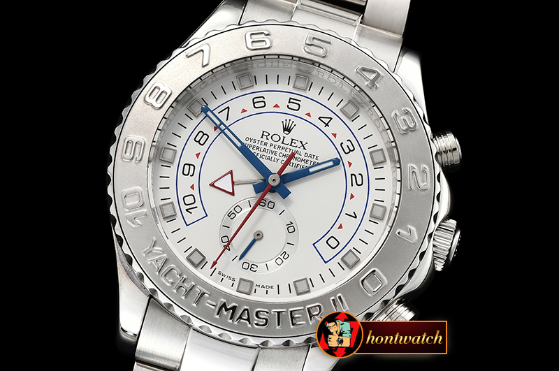 Rolex YachtMaster II Stainless SS/SS White BP Asia 2813 Mod
